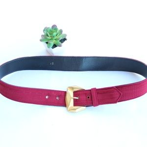 Vintage Red Gold Statement Belt 12